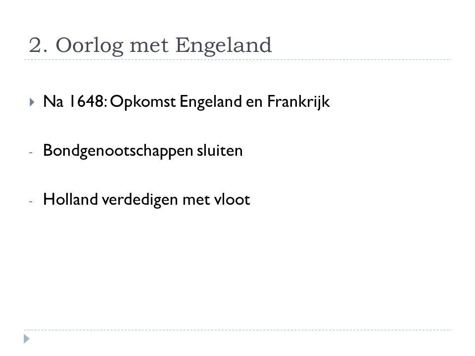 2. Oorlog met Engeland Na 1648: Opkomst Engeland en Frankrijk