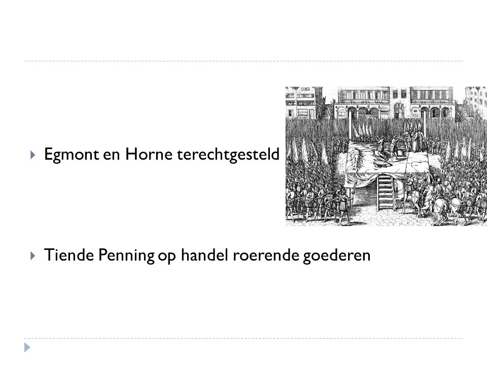 Egmont en Horne terechtgesteld