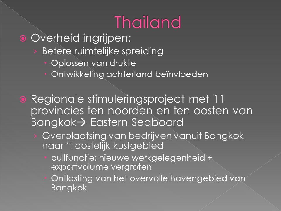 Thailand Overheid ingrijpen: