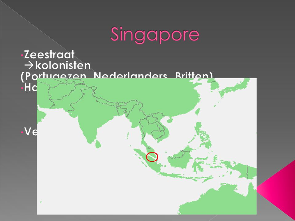 Singapore Zeestraat kolonisten (Portugezen, Nederlanders, Britten)
