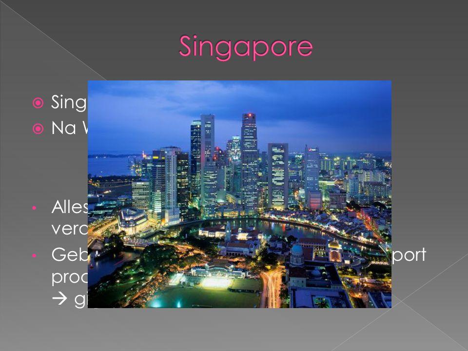 Singapore Singapore = leeuwenstad Na WO2 : zelfstandige ministaat
