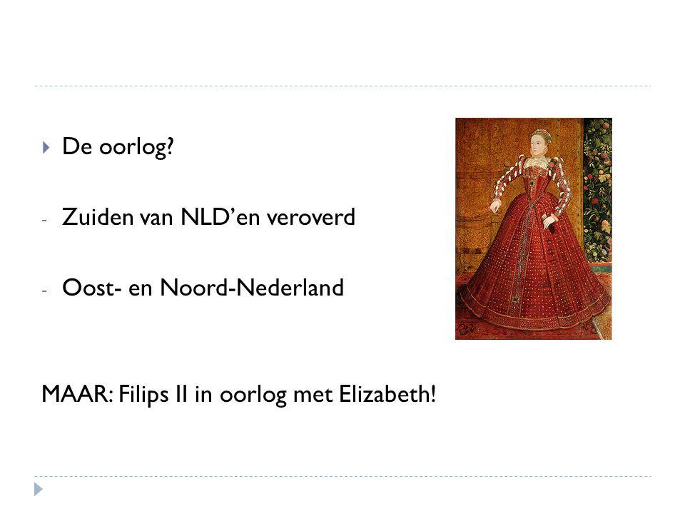De oorlog. Zuiden van NLD'en veroverd. Oost- en Noord-Nederland.