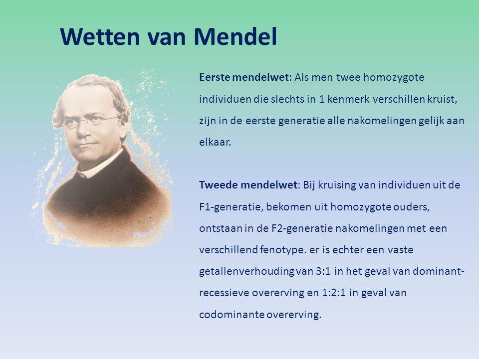 Wetten van Mendel