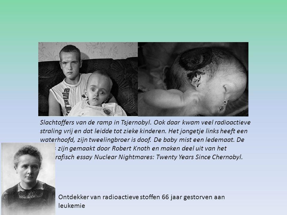 Slachtoffers van de ramp in Tsjernobyl