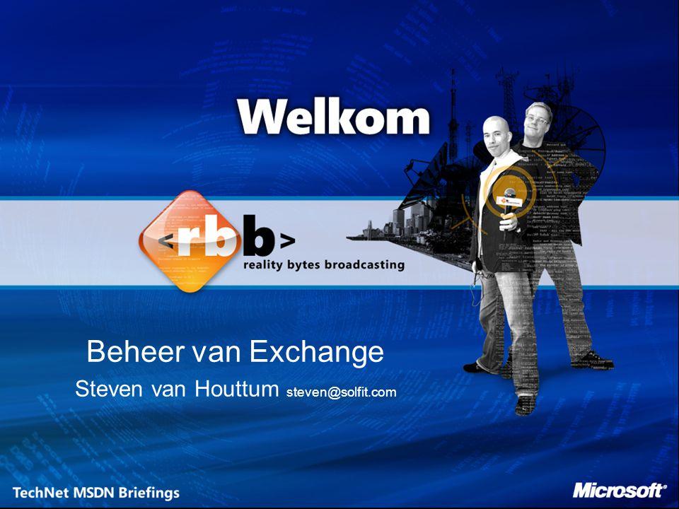Beheer van Exchange Steven van Houttum steven@solfit.com