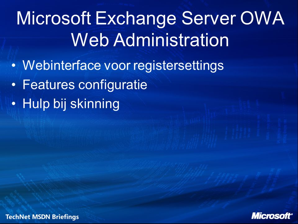 Microsoft Exchange Server OWA Web Administration