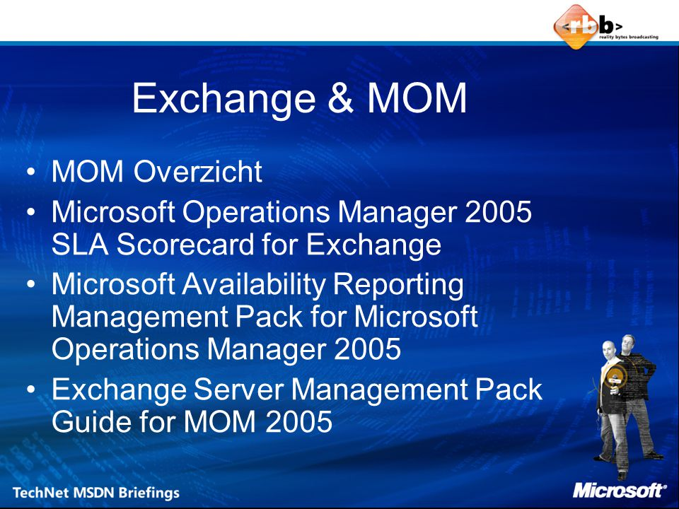 Exchange & MOM MOM Overzicht