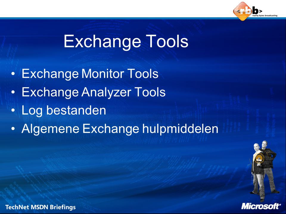 Exchange Tools Exchange Monitor Tools Exchange Analyzer Tools
