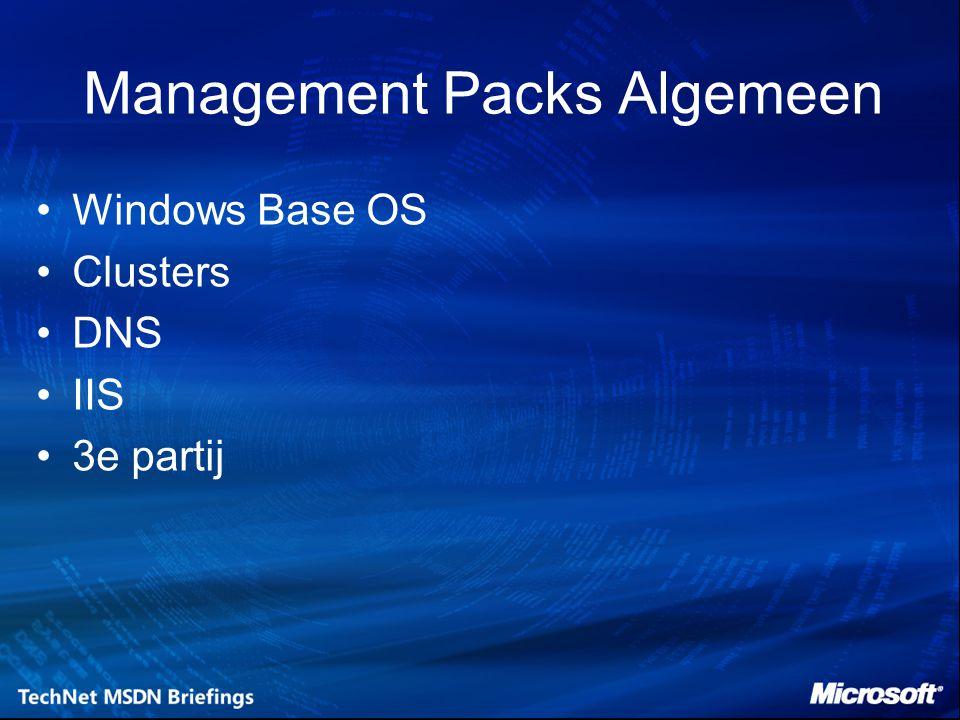 Management Packs Algemeen