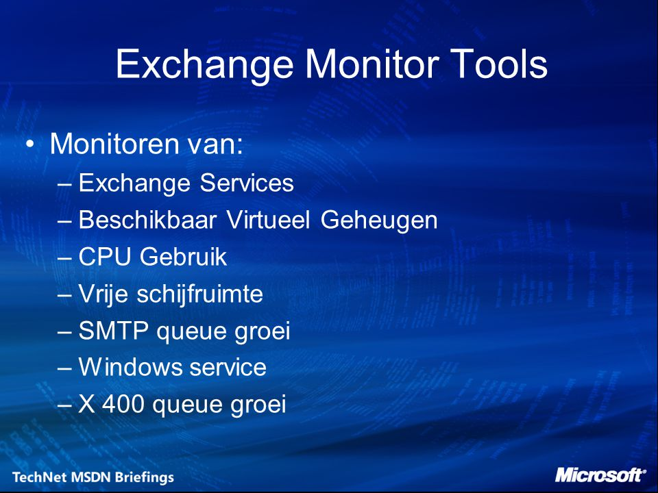 Exchange Monitor Tools