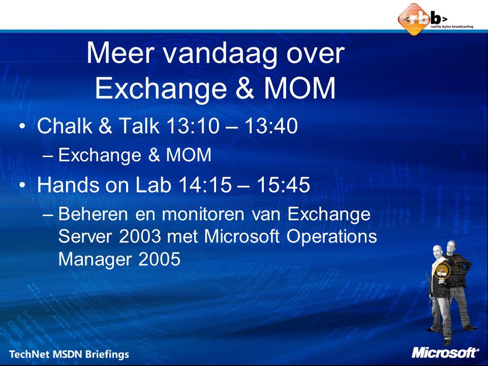 Meer vandaag over Exchange & MOM