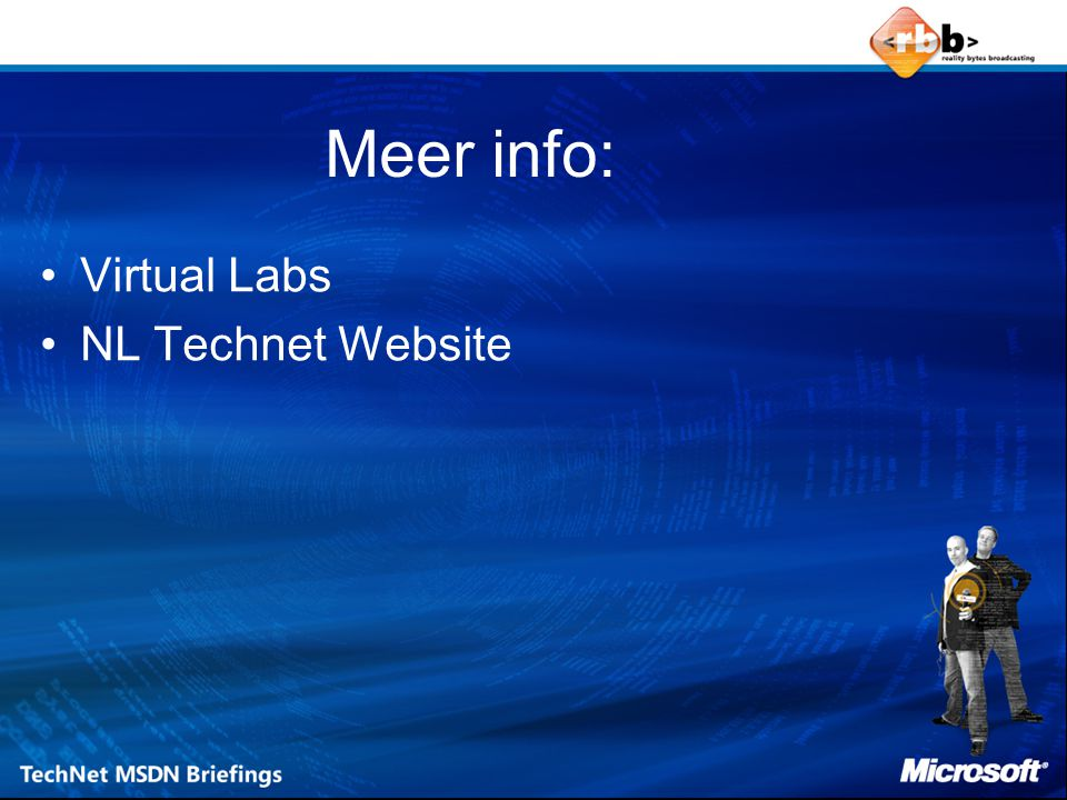 Meer info: Virtual Labs NL Technet Website