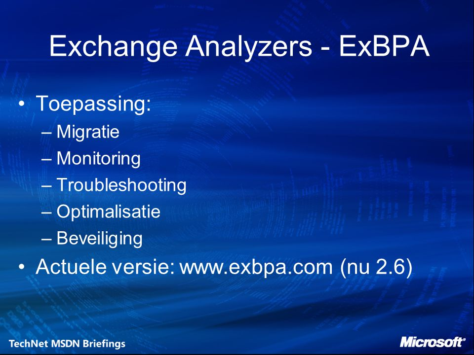 Exchange Analyzers - ExBPA