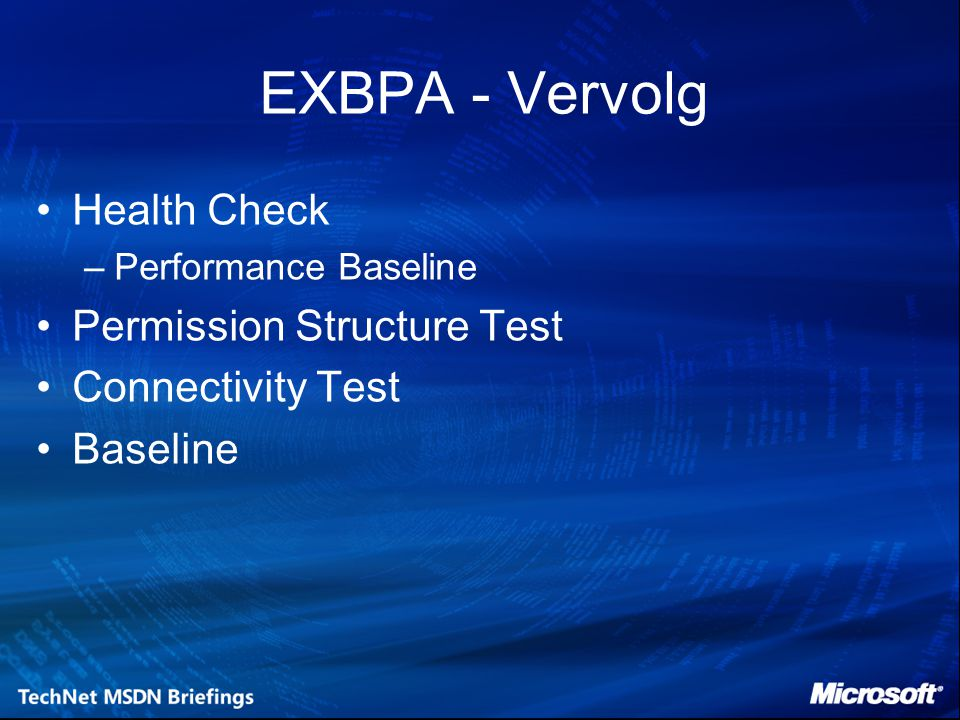 EXBPA - Vervolg Health Check Permission Structure Test