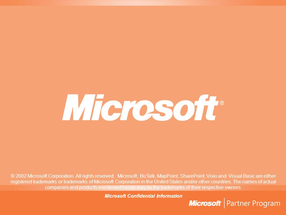 Microsoft Confidential Information