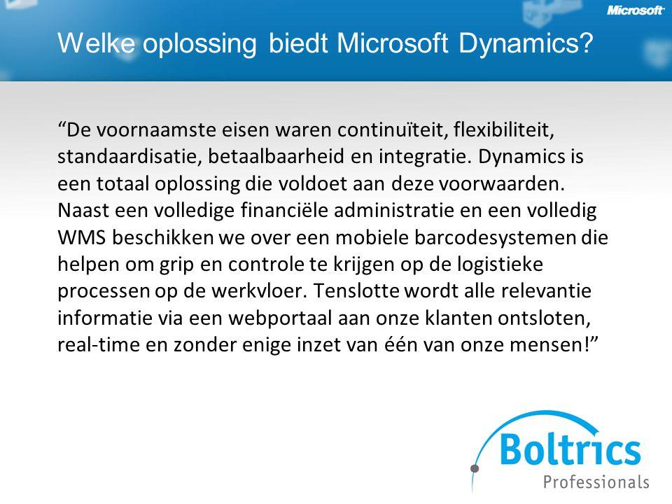Welke oplossing biedt Microsoft Dynamics