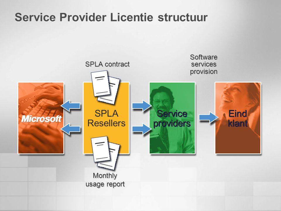 Service Provider Licentie structuur