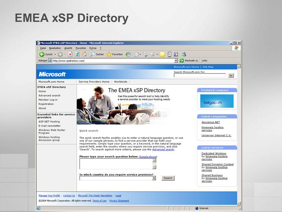 EMEA xSP Directory