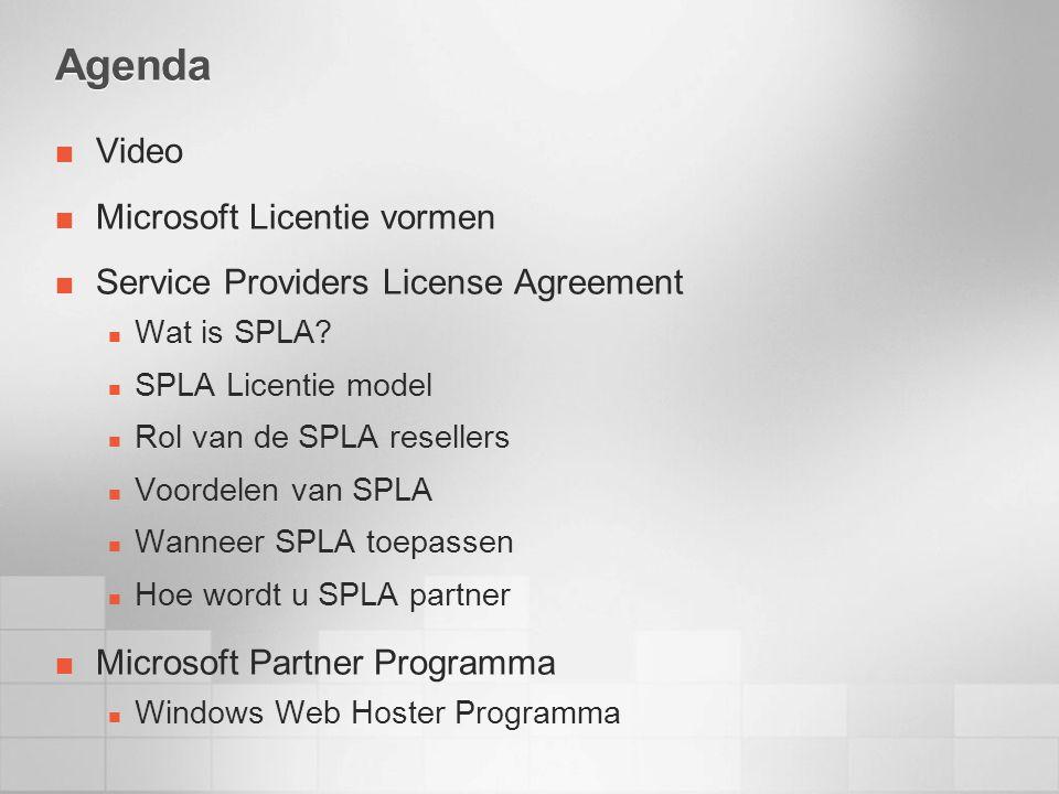 Agenda Video Microsoft Licentie vormen