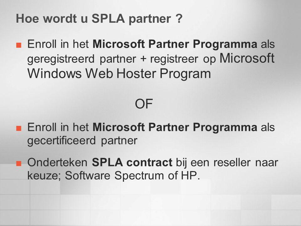 Hoe wordt u SPLA partner