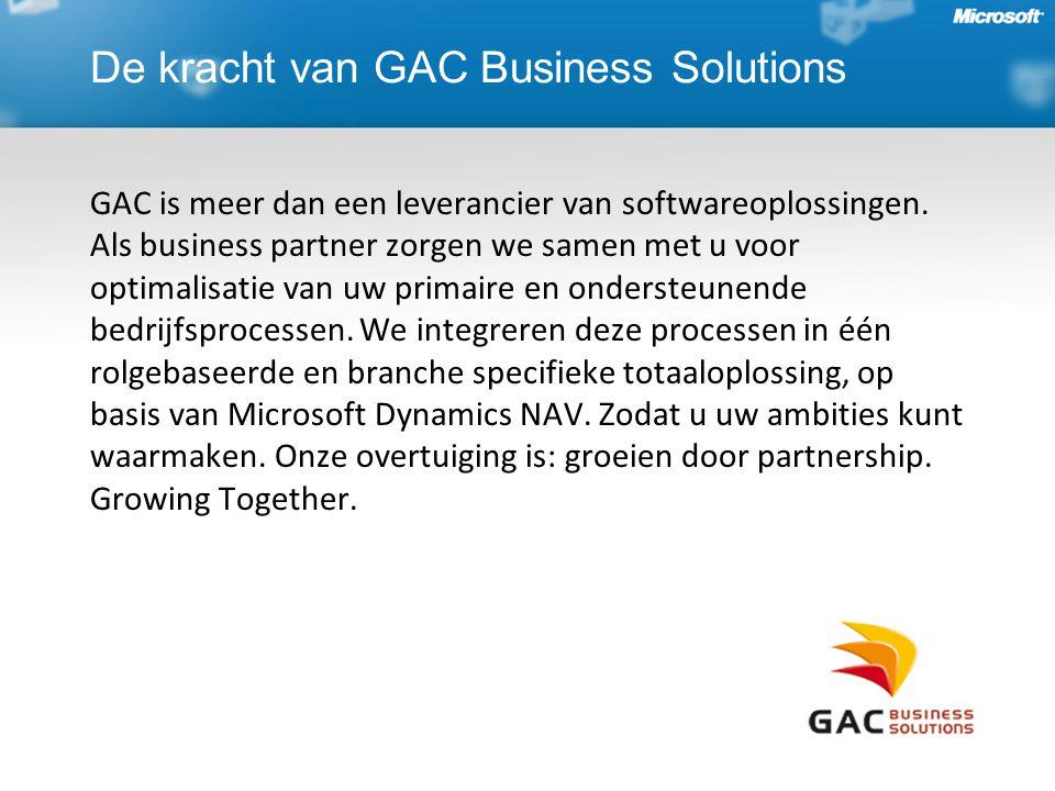 De kracht van GAC Business Solutions