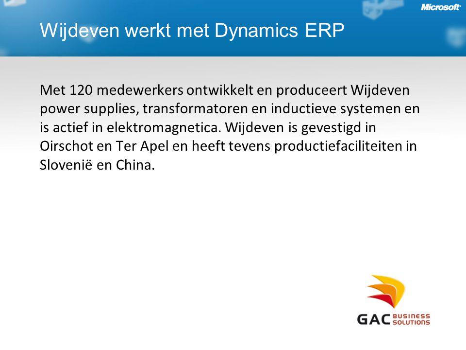 Wijdeven werkt met Dynamics ERP