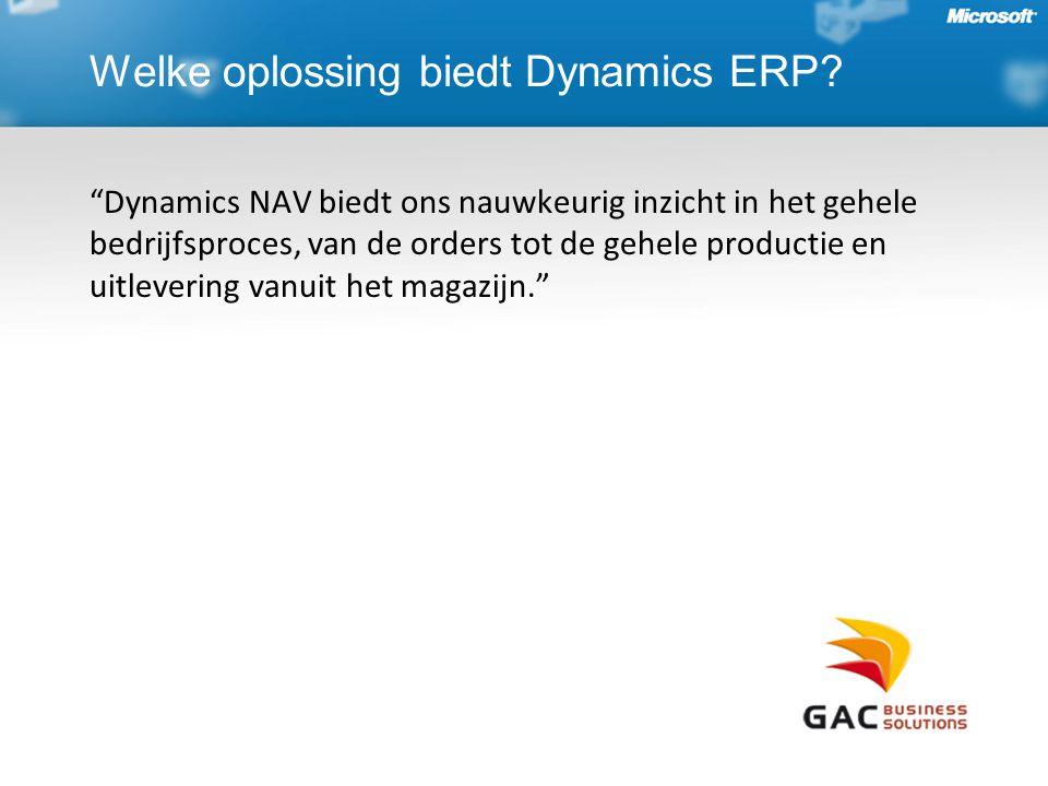 Welke oplossing biedt Dynamics ERP