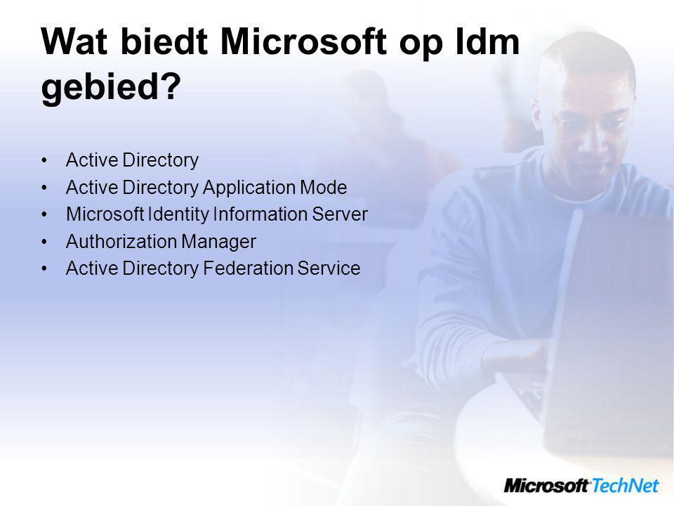Wat biedt Microsoft op Idm gebied