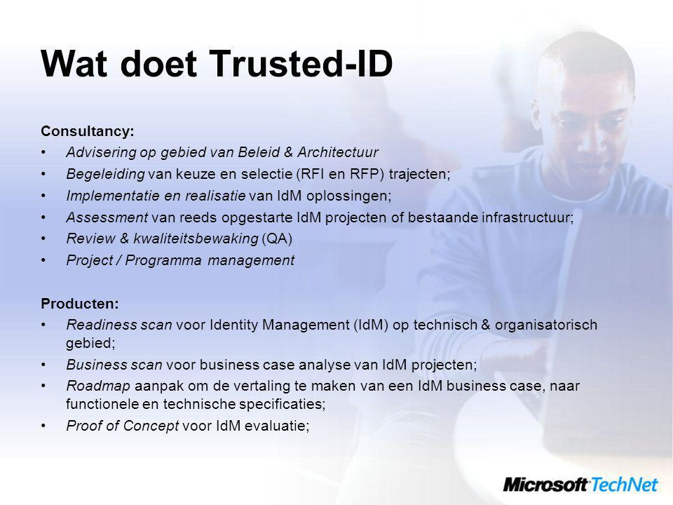 Wat doet Trusted-ID Consultancy: