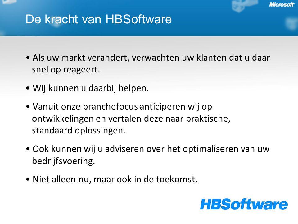 De kracht van HBSoftware