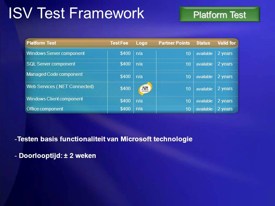 ISV Test Framework Platform Test