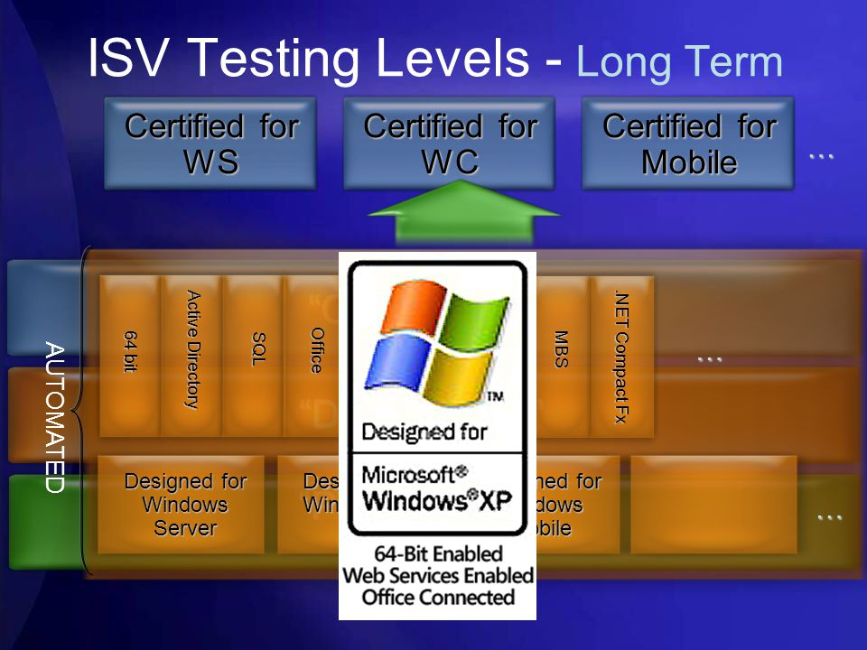 ISV Testing Levels - Long Term