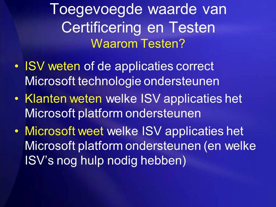 Toegevoegde waarde van Certificering en Testen Waarom Testen