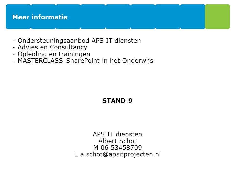 E a.schot@apsitprojecten.nl