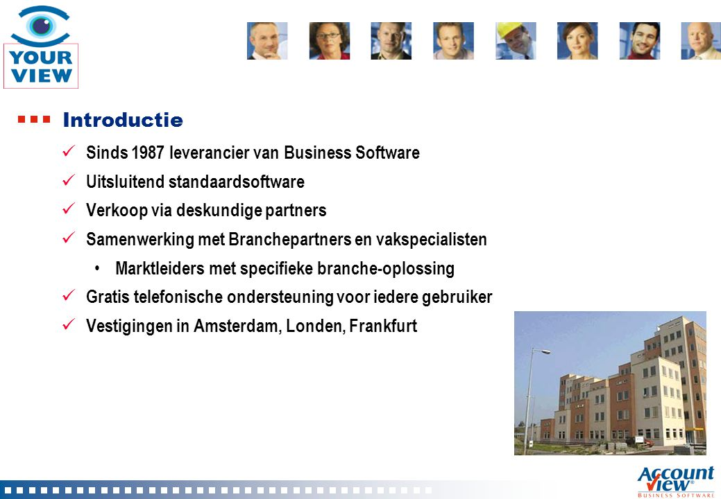 Introductie Sinds 1987 leverancier van Business Software