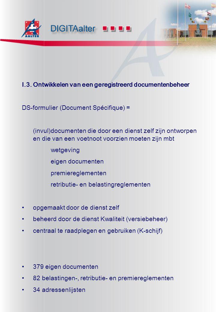 I.3. Ontwikkelen van een geregistreerd documentenbeheer