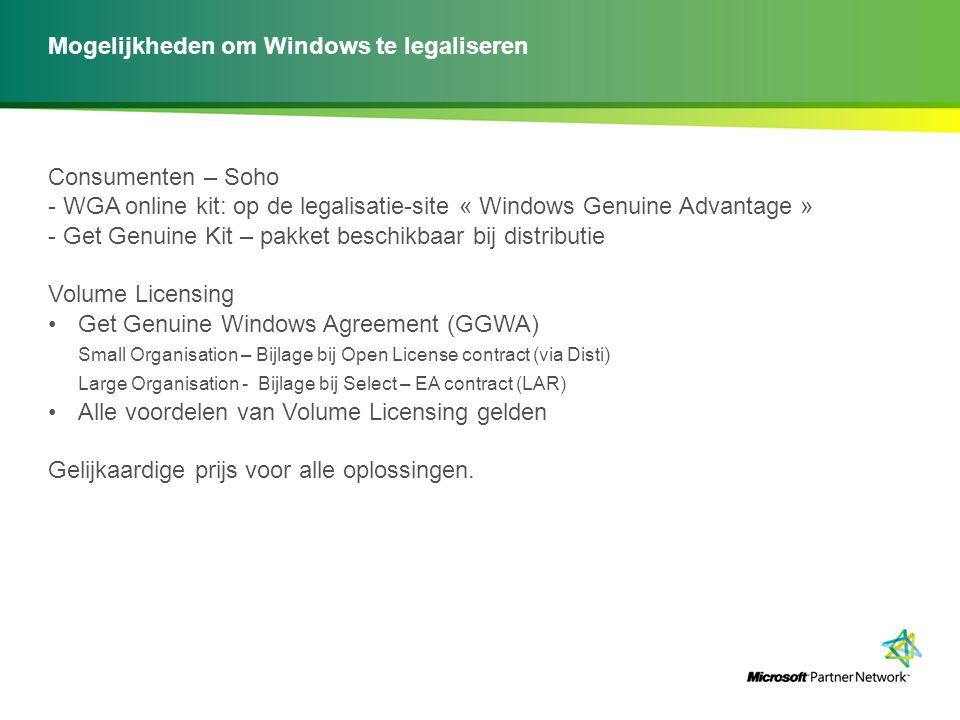 Mogelijkheden om Windows te legaliseren