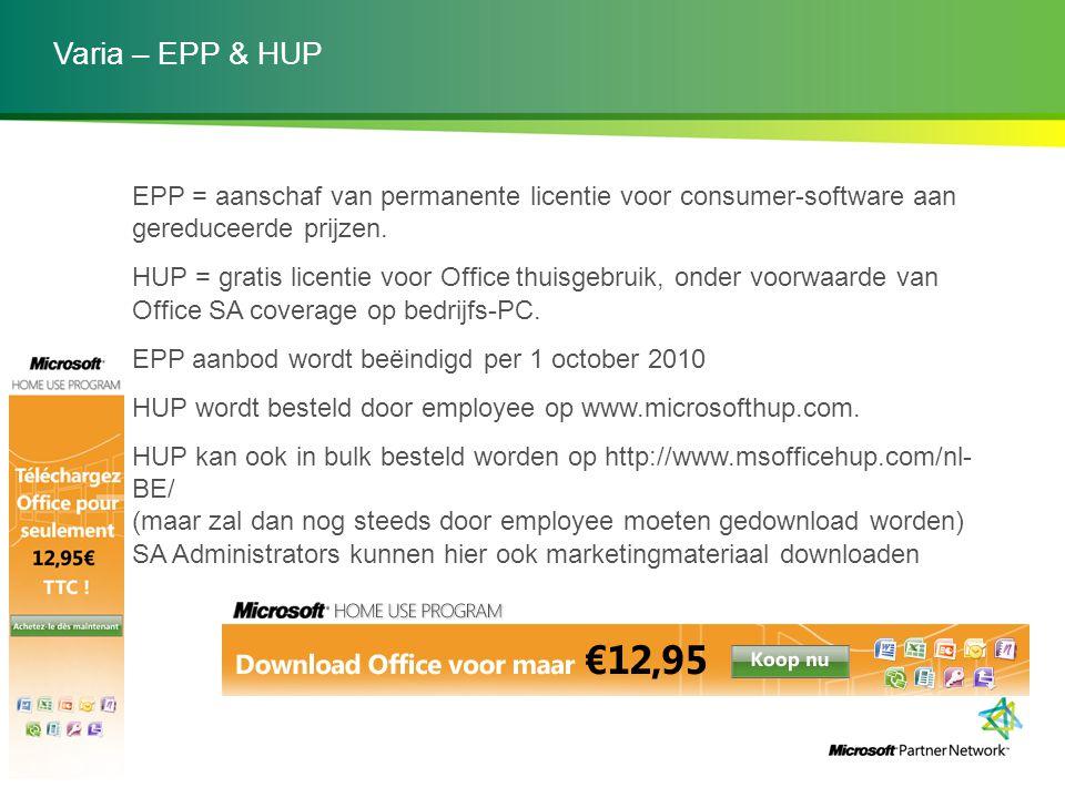 Varia – EPP & HUP