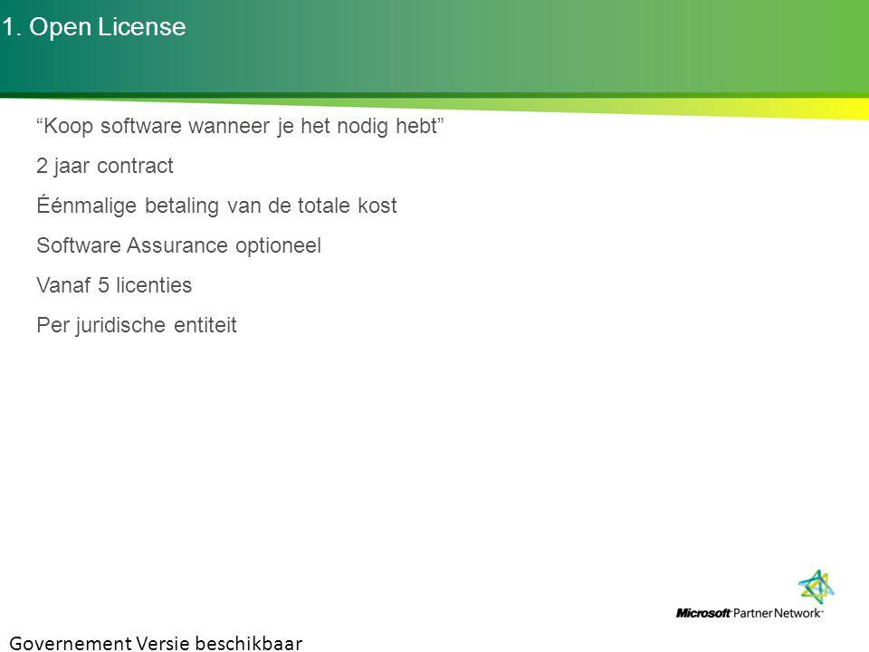 1. Open License Koop software wanneer je het nodig hebt