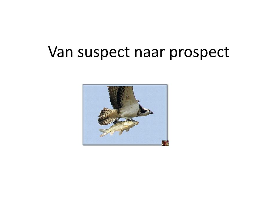Van suspect naar prospect