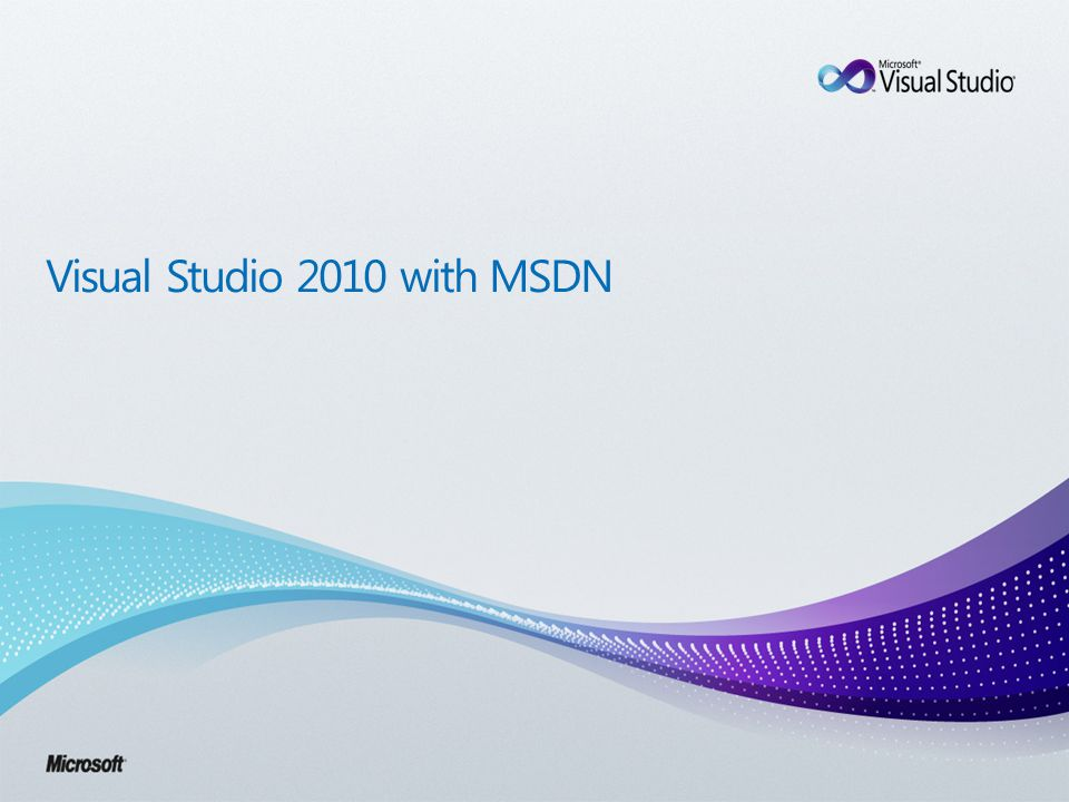Visual Studio 2010 with MSDN