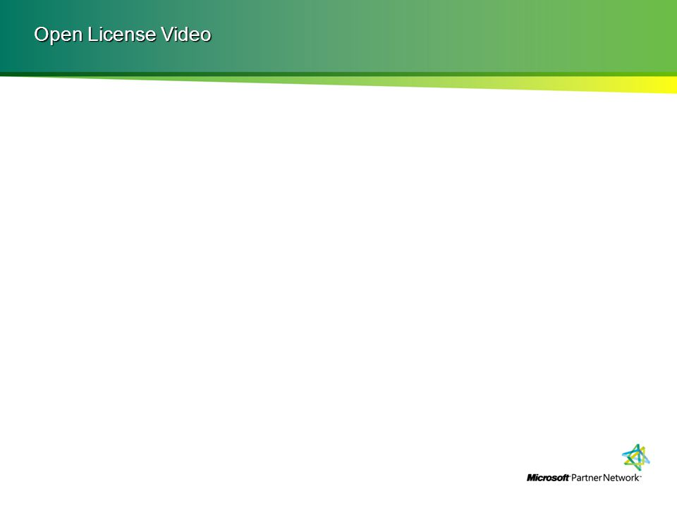 Open License Video