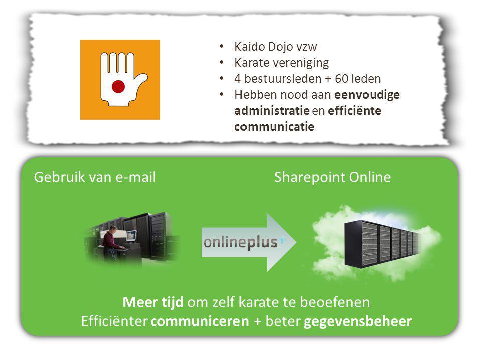 Gebruik van e-mail Sharepoint Online