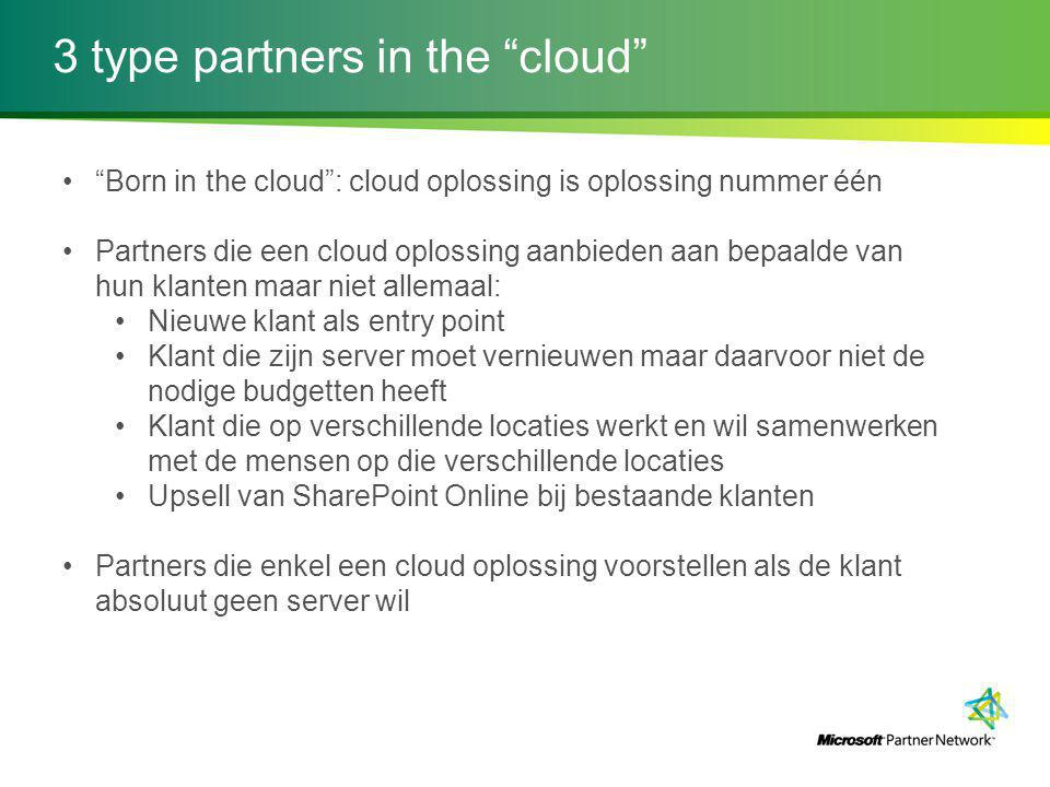 3 type partners in the cloud