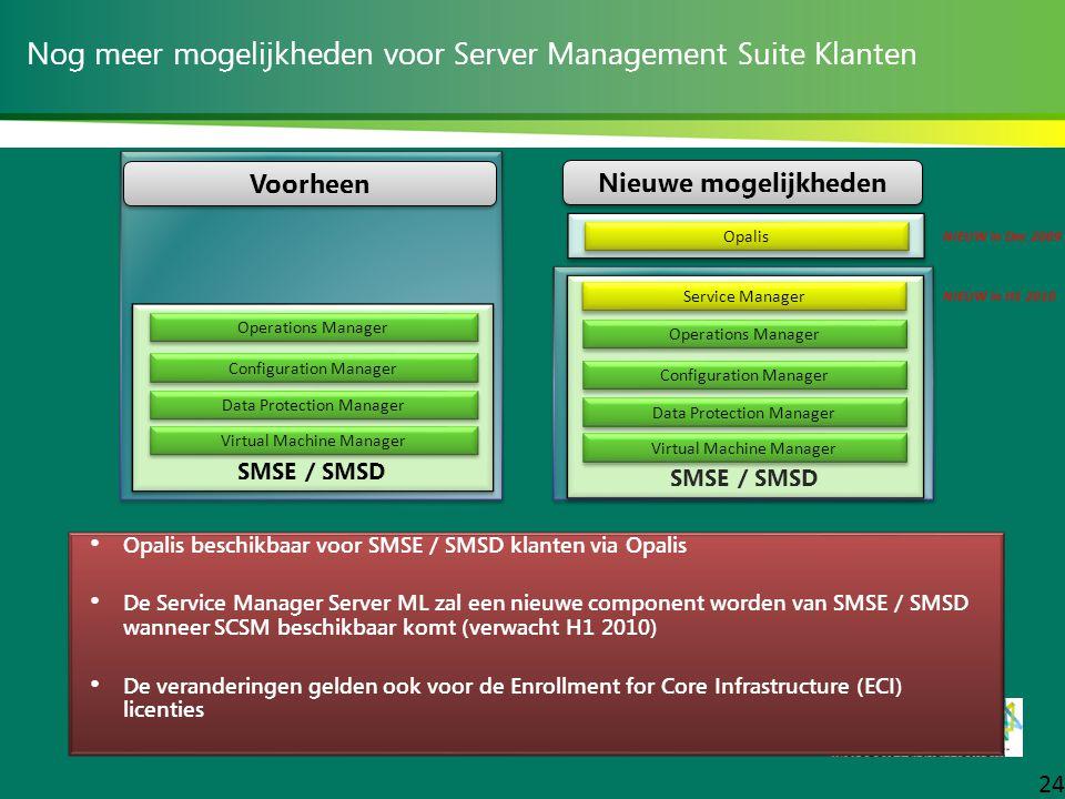 Nog meer mogelijkheden voor Server Management Suite Klanten