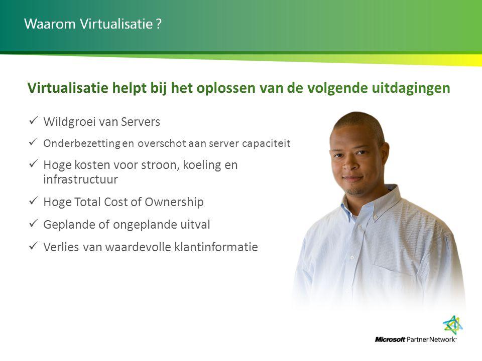 Virtualisatie helpt bij het oplossen van de volgende uitdagingen