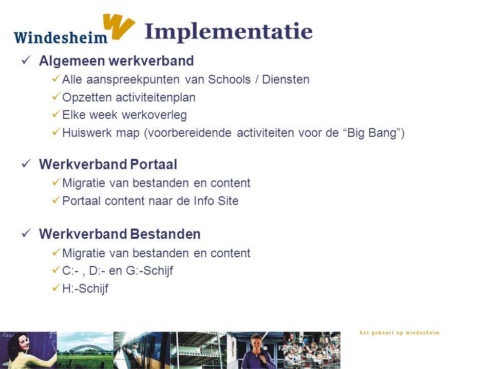 Implementatie Algemeen werkverband Werkverband Portaal