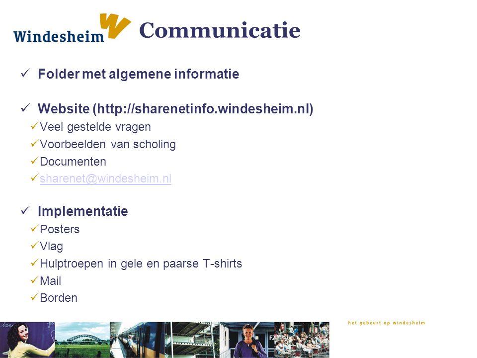 Communicatie Folder met algemene informatie
