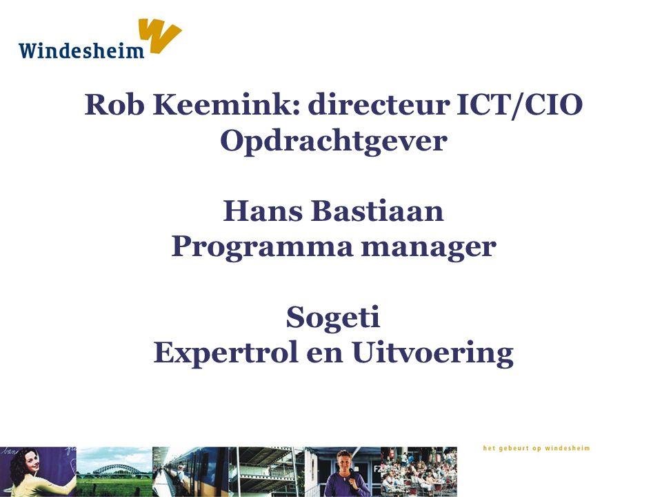 Rob Keemink: directeur ICT/CIO Opdrachtgever