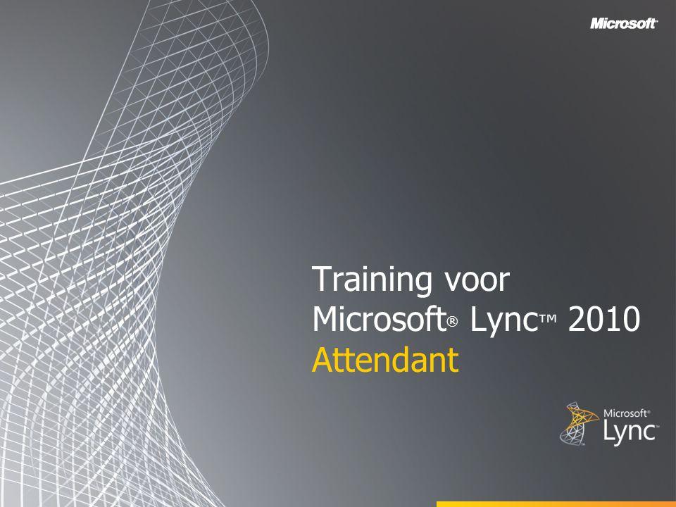 Training voor Microsoft® Lync™ 2010 Attendant